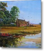 A Day On The Canal Metal Print