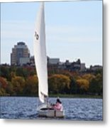a day on the Charles Metal Print