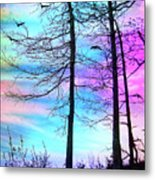 A Day With Dancing Lights Metal Print