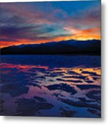 A Death Valley Sunset In The Badwater Basin Metal Print