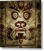 A Demonic Face Metal Print