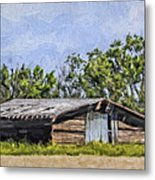 A Deserted Farm Metal Print