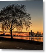 A Detroit Sunset - The View From Belle Isle Metal Print