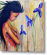 A Different Kind Of Blue Metal Print