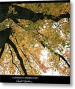 A Different Perspective W Poem Metal Print