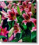 A Display Of Lilies Metal Print