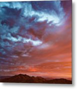 A Divided Sky At Sunset Metal Print