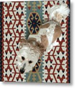 A Dog In On A Rug Metal Print