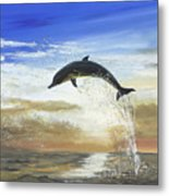 A Dolphin's Life Metal Print