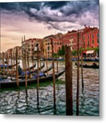 Surreal Seascape On The Grand Canal In Venice, Italy Metal Print