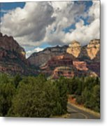 A Drive Through The Red Rocks  Metal Print