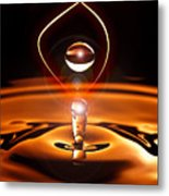 A Drop Of Light Metal Print