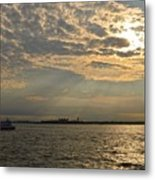 A Evening With Hudson River Metal Print