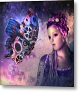 A Fairy Butterfly Kiss Metal Print