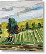 A Fall Day In The Townships Metal Print