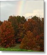 A Fall Rainbow Metal Print