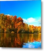 A Fall Reflection Metal Print