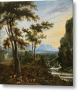 A Fantastic Countryside Around Rome Metal Print