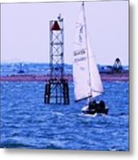 A Fine Day For A Sail Metal Print