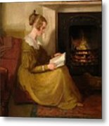 A Fireside Read Metal Print
