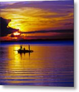 A Fisherman's Sunset  Metal Print