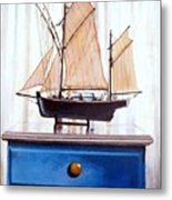 A Fishin Boat Right Outside Of Delacroix Metal Print