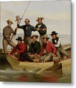 A Fishing Party Off Long Island Metal Metal Print