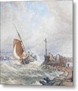 A Fishing Smack Entering Harbour Metal Print