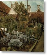 A Flemish Garden Metal Print