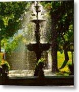 A Fountain In A St. Paul Park Metal Print