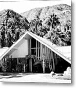 A Frame Bw Palm Springs Metal Print