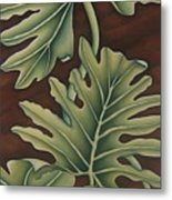 A Frog On A Philodendron Metal Print