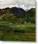 A Funeral Day In Jolster Metal Print