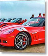 A Gaggle Of Vettes Metal Print