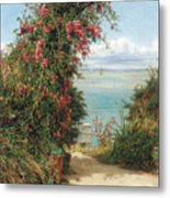 A Garden By The Sea  Metal Print