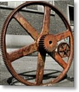 A Gear In A Gear Metal Print