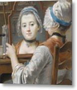 A Girl Wearing A Bonnet Metal Print