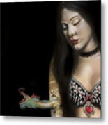 A Girl With A Dragon Tattoo Metal Print