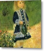 A Girl With A Watering Can 1876 Metal Print