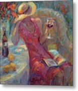 A Glass Of Red Metal Print