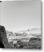 A Glimpse Of The Lighthouse Metal Print