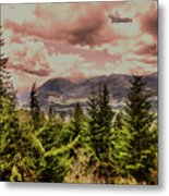 A Glimpse Of The Mountains Metal Print