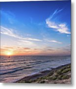 A Glorious Sunset At North Ponto, Carlsbad State Beach Metal Print