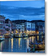 A Glowing Venice  Evening Metal Print