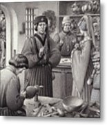 A Goldsmith's Shop In 15th Century Italy Metal Print