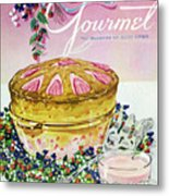A Gourmet Cover Of A Souffle Metal Print