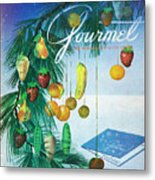 A Gourmet Cover Of Marzipan Fruit Metal Print