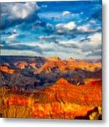 A Grand Canyon Sunset Metal Print