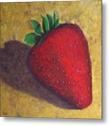 A Great Big Strawberry Metal Print