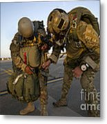 A Green Beret Inspects The Gear Metal Print